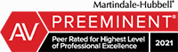 Martindale-Hubbell AV Preeminent Peer Review Rated 2021